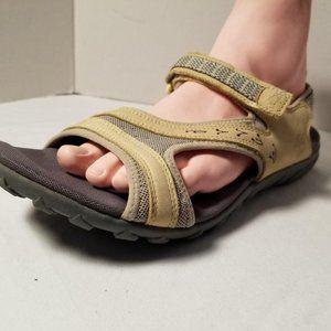 Timberland Hiking Sandals Yellow Velcro Closure